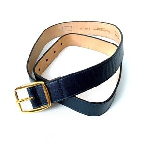 Pierre Cardin Blue Bonded Leather Belt 38/95